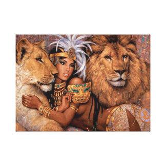 Princesa egípcia Canvas Arte da deusa do leão