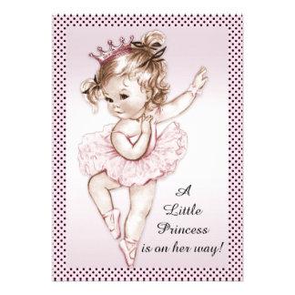 Princesa elegante chá de fraldas da bailarina do v convite