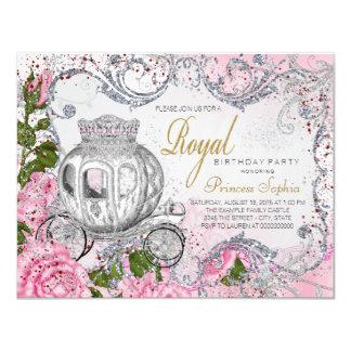 Princesa elegante festa de aniversário convite 10.79 x 13.97cm
