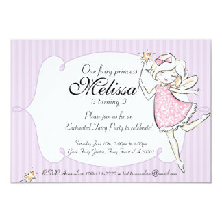 Princesa feericamente Enchanted convite de