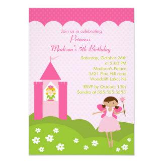 Princesa festa de aniversário bonito no convite