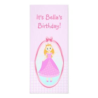 "Princesa festa de aniversário convite 10.16"" x 23.49cm"