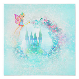 Princesa mágica Castelo do conto de fadas Poster Perfeito