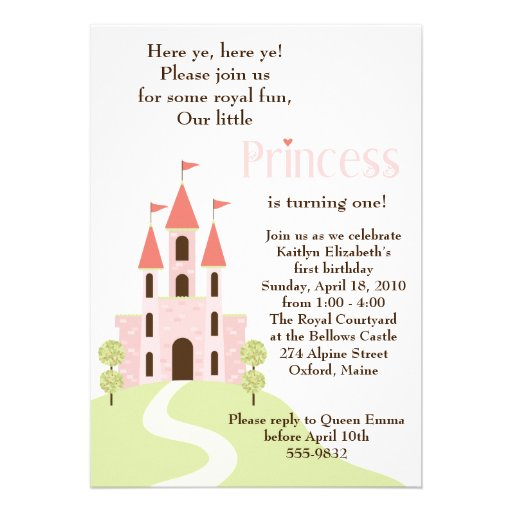 Princesa Partido Aniversário Convite