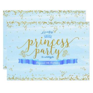 Princesa Partido Azul & convites do aniversário do