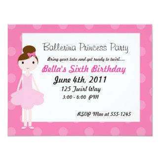 Princesa Partido da bailarina Convites Personalizados
