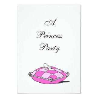 Princesa Partido do travesseiro do rosa do Convites Personalizados