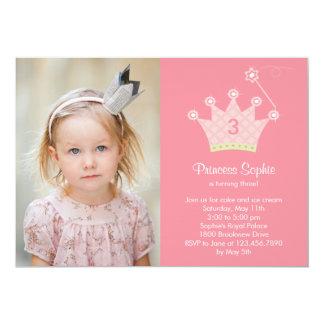Princesa Partido Foto Aniversário Convite