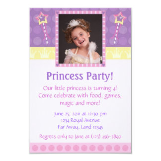 Princesa Partido Foto Convite