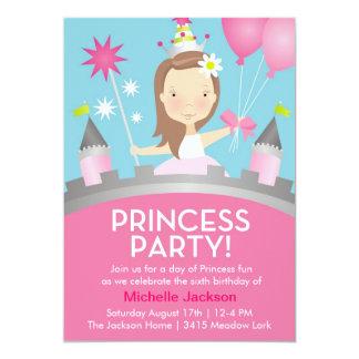 Princesa Partido - rosa Convite 12.7 X 17.78cm