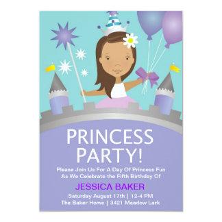 Princesa Partido - roxo Convite 12.7 X 17.78cm