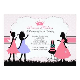 Princesa pequena bonito convite de aniversário