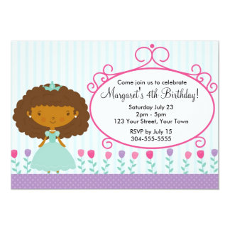 Princesa pequena festa de aniversário convites personalizado