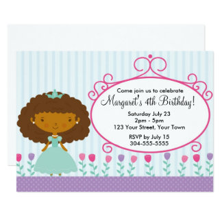 Princesa pequena festa de aniversário convite 12.7 x 17.78cm