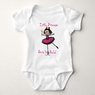 Princesa pequena - nascer à regra! t-shirts