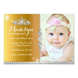 Princesa pequena Primeiro Aniversário Convite