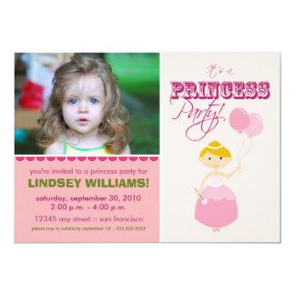 Princesa preciosa convite de festas (pink)