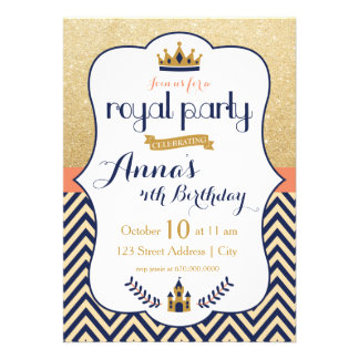 Princesa real convite de festas