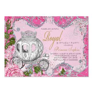 Princesa real extravagante festa de aniversário convite 11.30 x 15.87cm