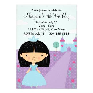 Princesa real festa de aniversário convite personalizado