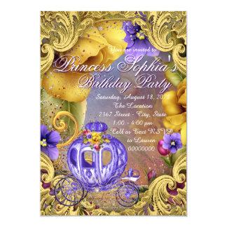 Princesa roxa festa de aniversário do conto de convite 12.7 x 17.78cm