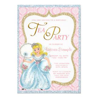 Princesa tea party convite 12.7 x 17.78cm