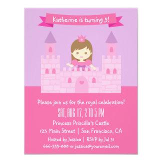 Princesa Tema do conto de fadas, festa de Convite 10.79 X 13.97cm
