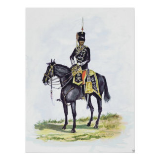 Príncipe Albert do escritório o 11o possui Hussars Poster