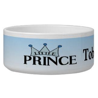 Príncipe azul bacia personalizada do cão da coroa tijelas para água para cachorros