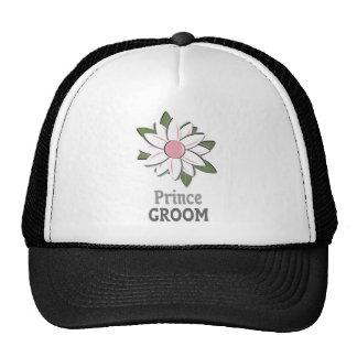 Príncipe cor-de-rosa do noivo da flor boné