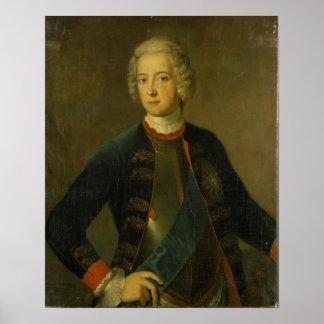 Príncipe herdeiro Frederick II 1728 Pôsteres