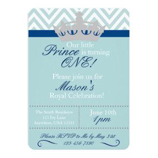 Príncipe pequeno Primeiro Aniversário Convite