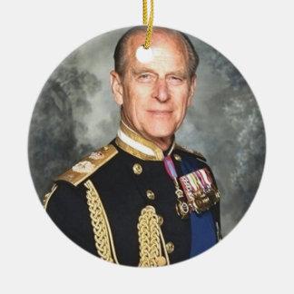 Príncipe Philip Ornamento De Cerâmica Redondo