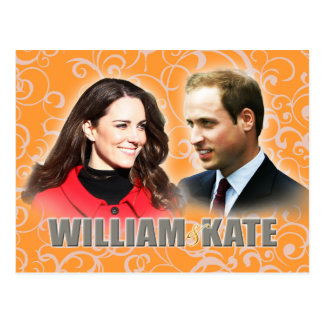 Príncipe William & cartão de Kate Middleton