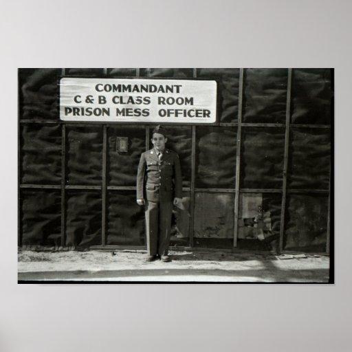 Prisão militar do poster vintage