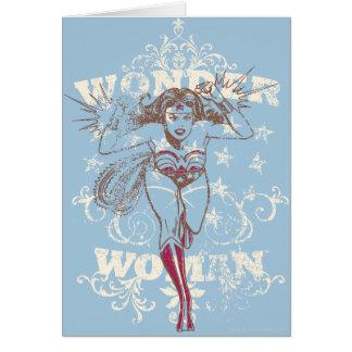 Prisioneiro de guerra da mulher maravilha cartão comemorativo