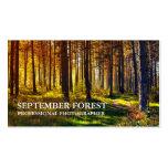 Pro fotografia (floresta) cartão de visita