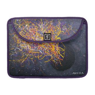 Pro luva de Macbook, espaço, arte abstracta, black Bolsas Para MacBook Pro