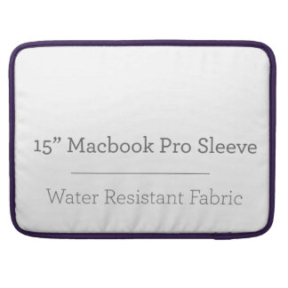 Pro luva do costume 15in Macbook Bolsas Para MacBook Pro