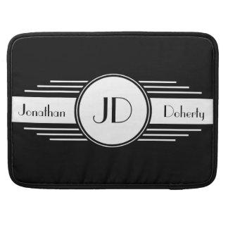 Pro luva Monogrammed preto e branco de Macbook Bolsa Para MacBook Pro