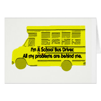 Problemas do condutor de autocarro atrás de mim cartão