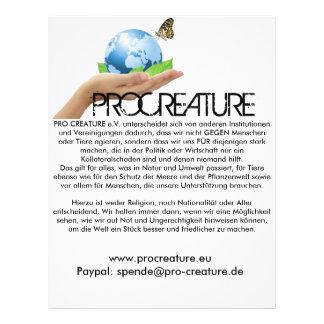 ProCreature Flyer Flyer 21.59 X 27.94cm