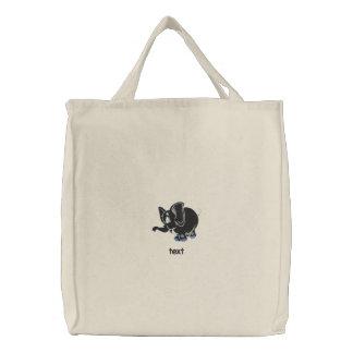 Produto bordado do teste do saco bolsas para compras