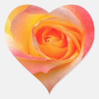 Produtos alaranjados, amarelos, e do rosa do rosa adesivo coração