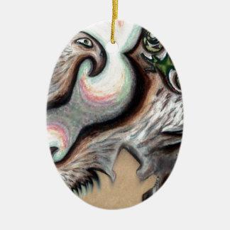 Produtos de Pari Chumroo Ornamento De Cerâmica Oval