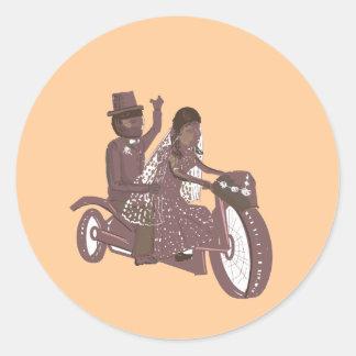 Produtos do casamento do motociclista adesivo