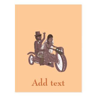 Produtos do casamento do motociclista ou do cartão postal