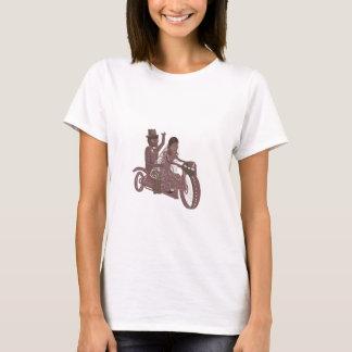 Produtos do casamento do motociclista t-shirt