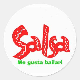 Produtos do logotipo da dança da salsa! adesivo