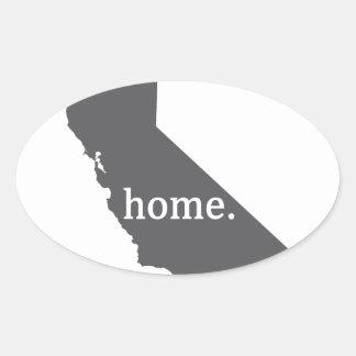Produtos Home de Califórnia Adesivo Oval